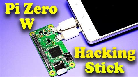 Portable Raspberry Pi 0 w Hacking Stick for Mobile