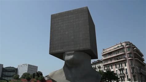 NICE, FRANCE - MAY 2: Square Head - Building Cube Shaped
