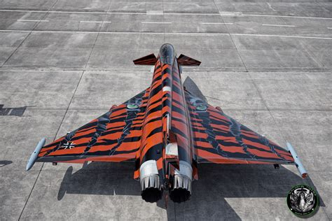 Eurofighter Typhoon in new, special Tiger Livery is