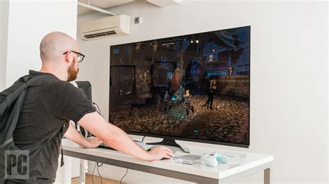 First Look: The Alienware 55 OLED Gaming Monitor Is a
