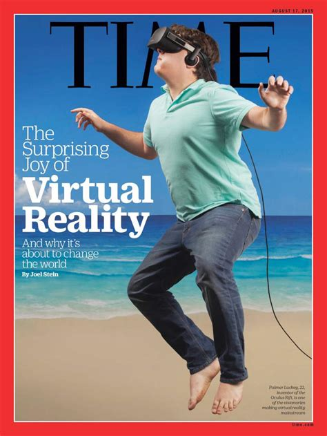 Time Magazine cover featuring Oculus Rift's Palmer Luckey