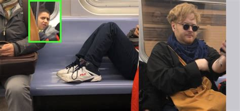 Unruly Boy Takes Up Three Seats On Subway Car, Then Learns