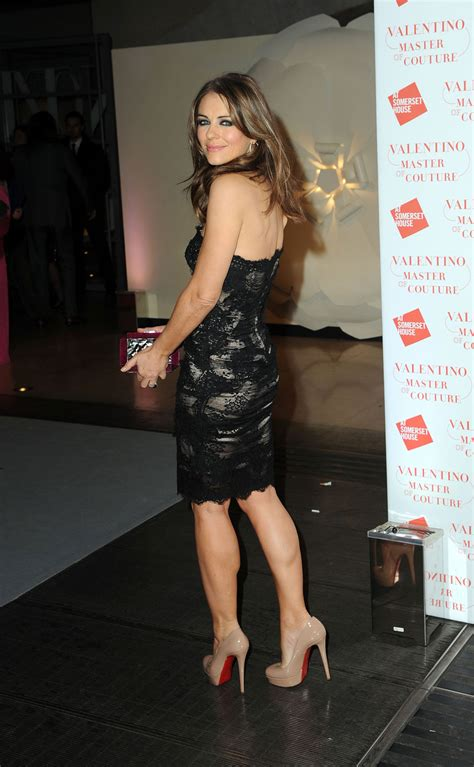 ELIZABETH HURLEY at Valentino Master of Couture VIP View
