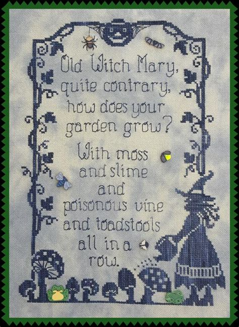 Old Witch Mary Pattern for Counted Cross Stitch Instant PDF