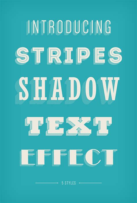 Stripes Shadow Text Effect   GraphicBurger