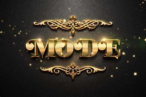 Free Vintage Style Gold Text Effect for Photoshop
