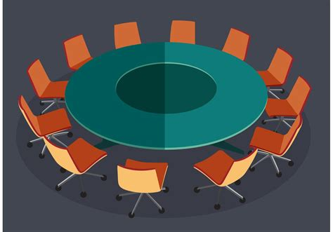 Round Table Meeting Vector - Download Free Vectors
