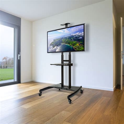 """Rolling TV Stand Mobile TV Cart for 55"""" - 80"""" Plasma"""