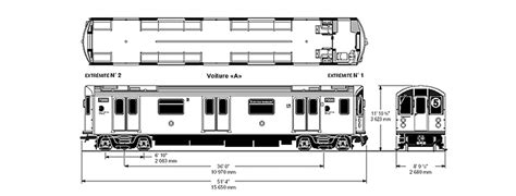SCALED DRAWINGS OF VARIOUS COMMUTER, METRO, LIGHT RAIL