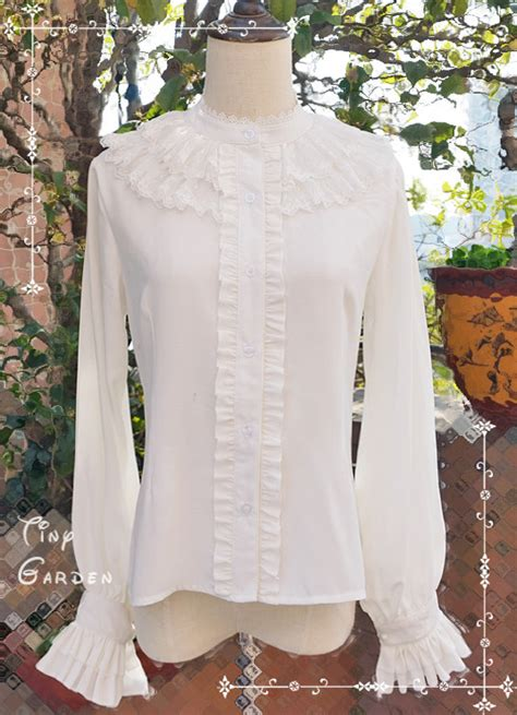 Cheap Chiffon Lace Double-deck Round Collar Long Sleeve