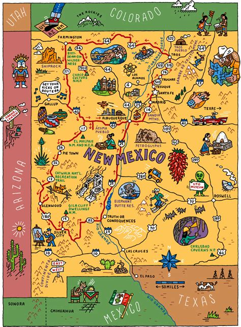 Tim Carroll - New Mexico Map | New mexico road trip