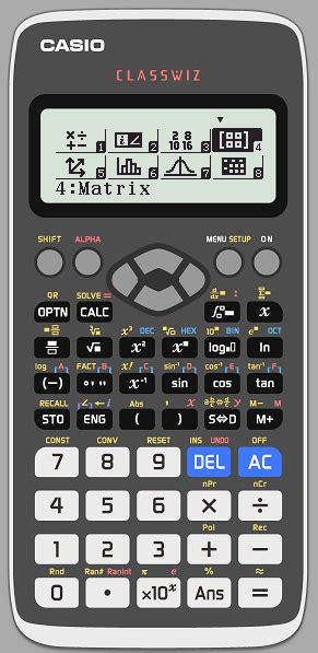 In a Casio calculator, what is the base value of log 10 or