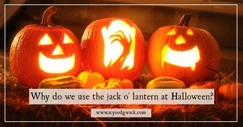 Why do we carve and display the jack o' lantern at Halloween?
