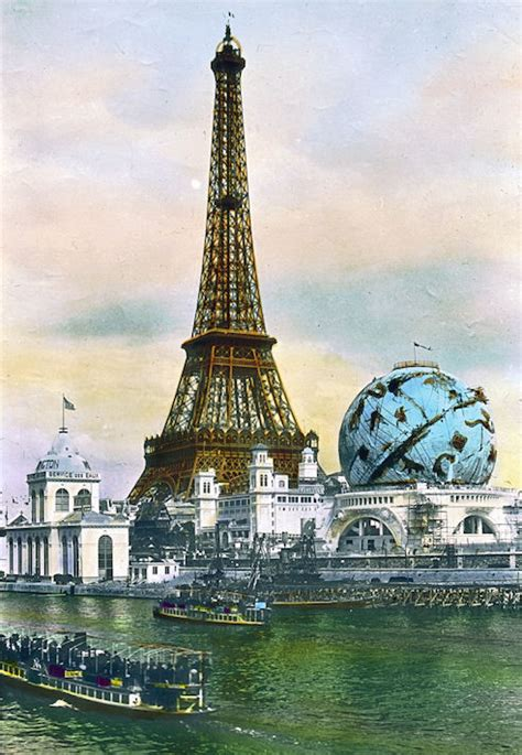 Old Postcard - Eiffel Tower - The Graphics Fairy