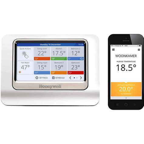 Honeywell evohome colour connected pakket met OpenTherm