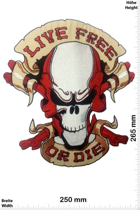 Live Free - Patches -Back-patch - Patch Sleutelhangers