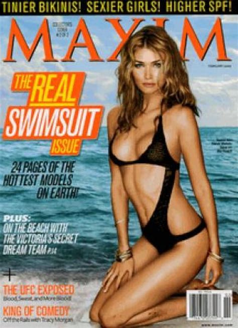 Maxim Magazine Cover Page Crochet One Piece Swimsuit in