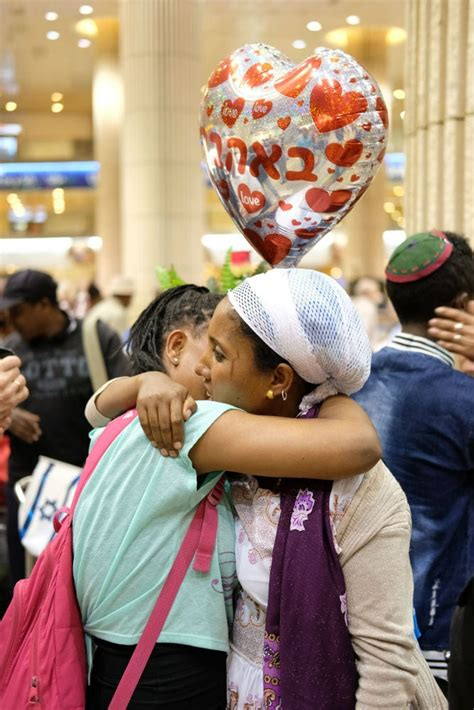 With Tears of Joy, Long-Lost Ethiopian Jews Reunite With