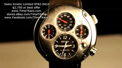 Seiko Kinetic Limited Edition 9T82-0A10 - YouTube