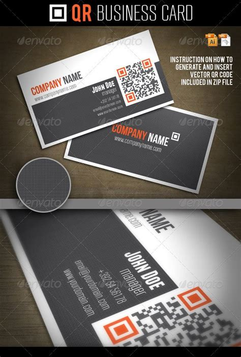 QR Business Card by Oleana | GraphicRiver