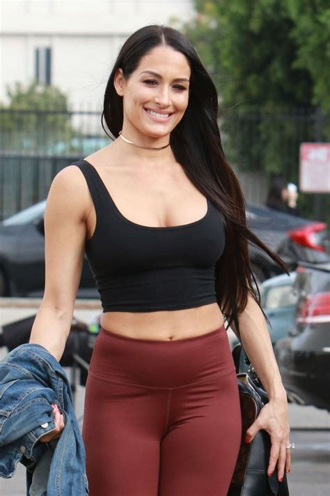 Nikki Bella in Tights and Sports Bra – Arrives at a dance