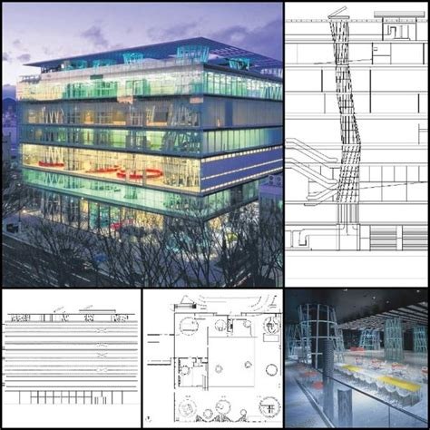 【World Famous Architecture CAD Drawings】Sendai Mediatheque