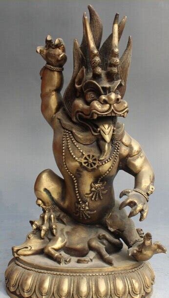 """Details about 13"""" Chinese Bronze Fengshui Dragon King Lord"""