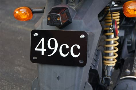 49cc 50cc License Plate Tag Scooter Motorcycle Golf Cart