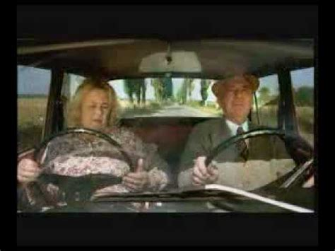 Funny Old Woman- extra steering wheel !!! - YouTube