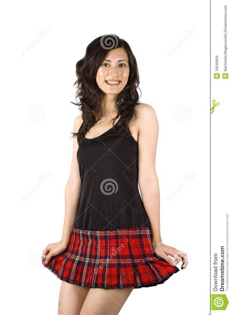 Sexy Asian Girl In Short Skirt Stock Images - Image: 10040664