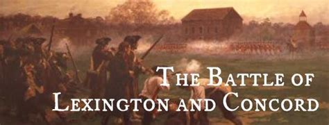 The Battle of Lexington and Concord   American Rev's Blog