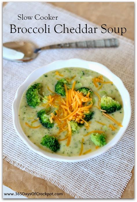 Slow Cooker Broccoli Cheddar Soup (lightened up and gluten