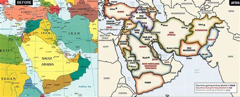 President Bush's 2006 Middle East Map Is Enraging Friends