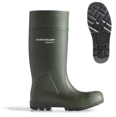 Dunlop Purofort Full Safety Welly Green C462933 | The