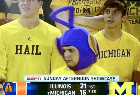 GIF: The Coolest Michigan Fan Of All Time - The Champaign Room